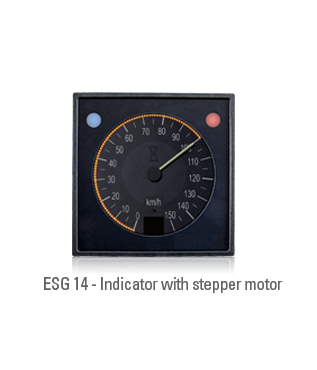 Indicators with stepper motor